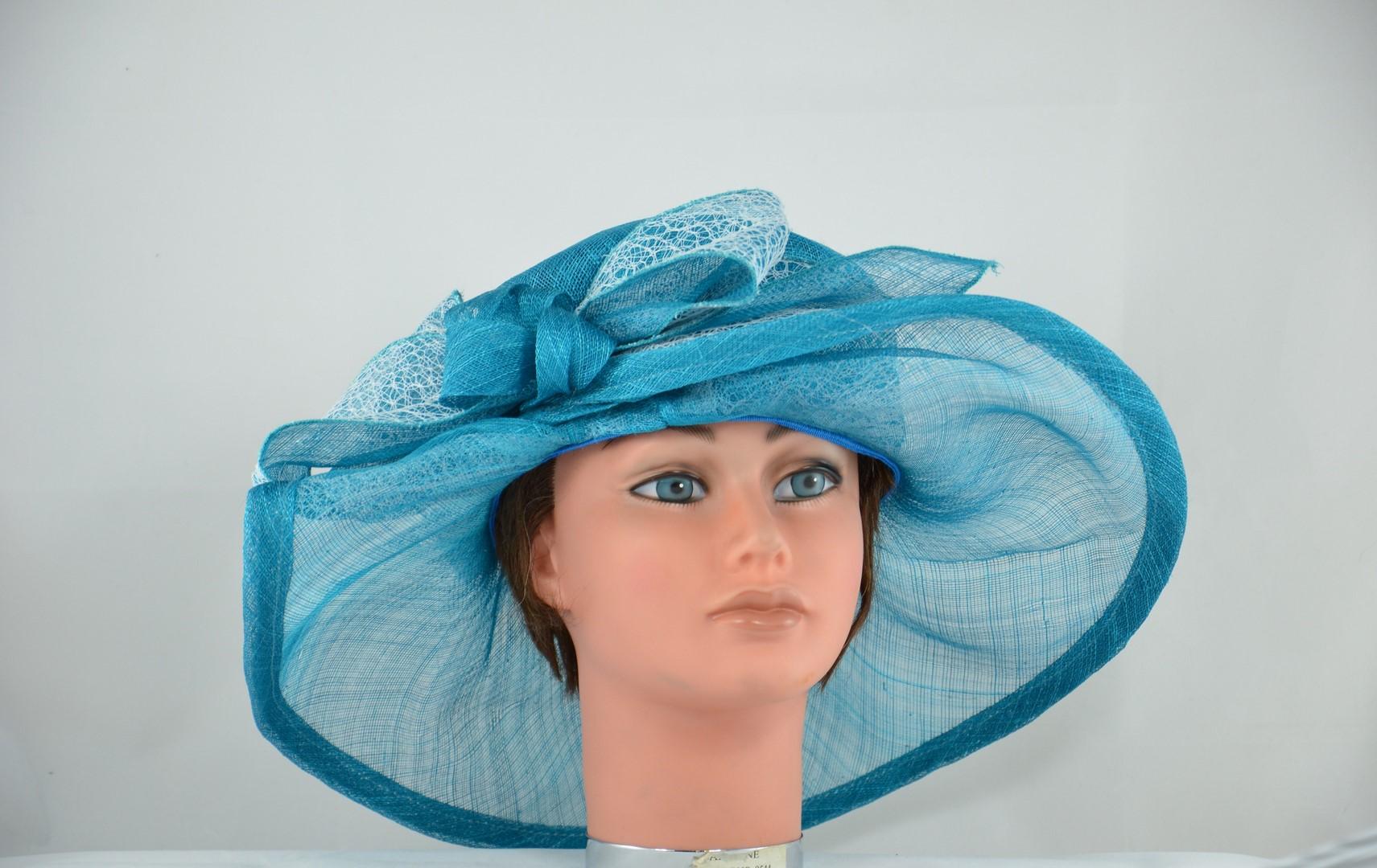 capeline sisal bleu turquoise chapeaux el gants. Black Bedroom Furniture Sets. Home Design Ideas