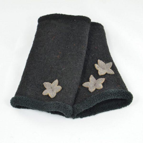 manchette-laine-noir-etoile-femme-ado
