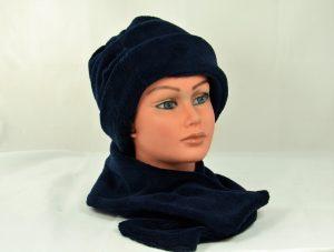 bonnet doudou marine chaud confortable elegant hiver ado femme