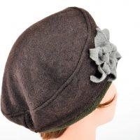 hiver-femme-beret-chaud-laine-bouillie-marron
